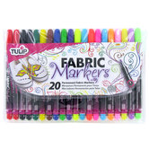 Tulip Fine Tip Fabric Markers - 20 Piece Set